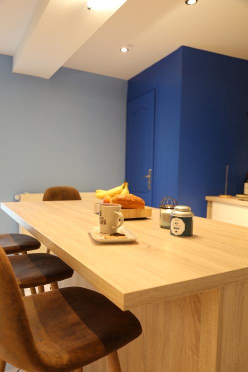 Après : cuisine bleu © Pierre Disch