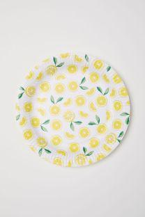 Assiettes en carton citron H&M