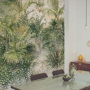 papier peint végétal