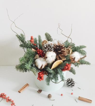 Un bouquet pour les fêtes. © Pinterest