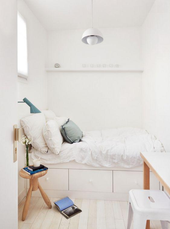 Le blanc, idéal pour multiplier la luminosité et la sensation d'espace. © Homeideas